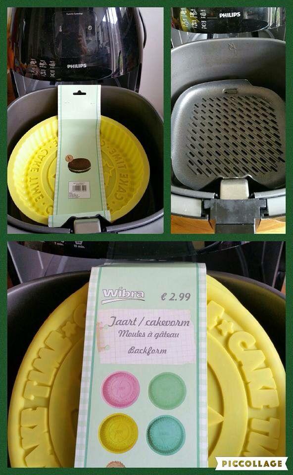 Mooie ronde siliconen bakvorm. Mooi voor het maken van een taart of quiche en past perfect in de airfryer xl als je het op grillpan plaatst. Wibra 2,99 euro.