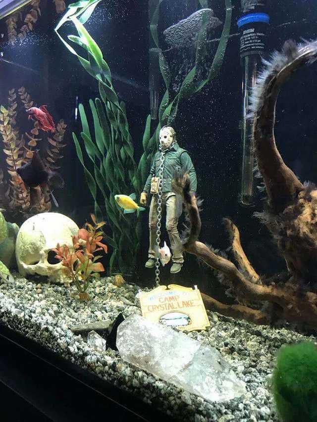 Jason Vorhesse Fish Tank Figurine Fish Tank Themes Fish Tank Decorations Diy Fish Tank