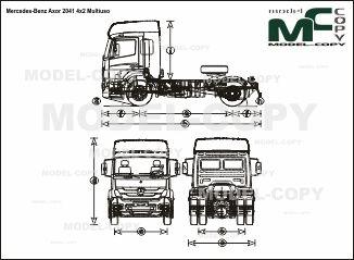 Mercedes-Benz Axor 2041 4x2 Multiuso - drawing