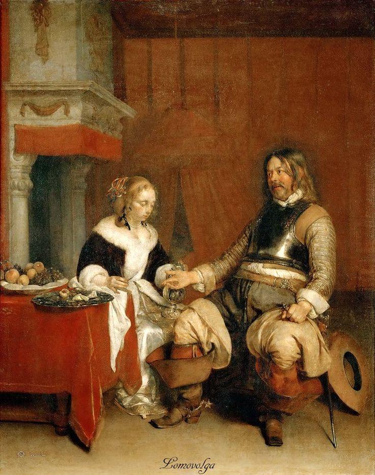 Герард Терборх (Gerard Terborch, 1617-1681) Лихой офицер.1662. Лувр