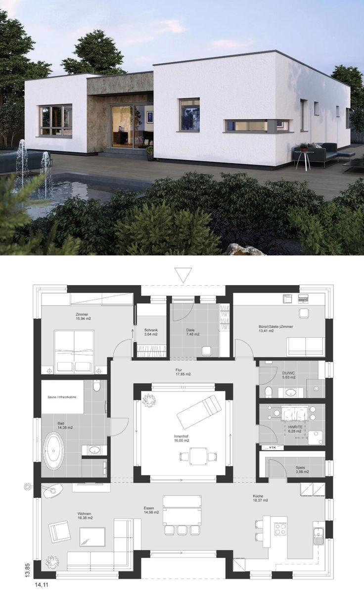 Architecture Designs Moderne Grundrisse Bungalow Haus Design Architektur