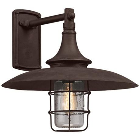 Allegheny 15 1 2 high centennial rust outdoor wall light