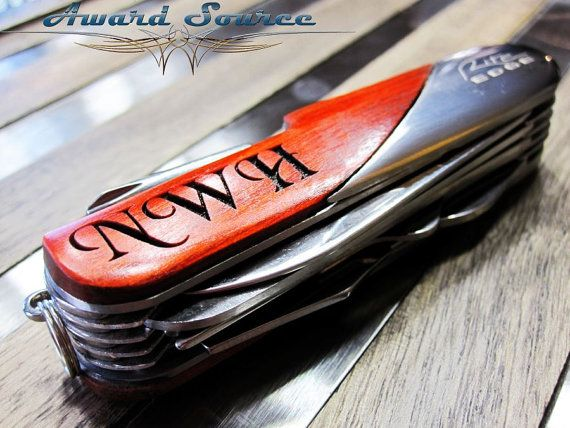 Birthday Gift  Engraved Swiss Pocket Knife  Custom by KnifePro, $18.50