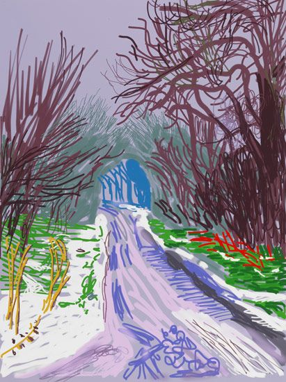 David Hockney - The Arrival of Spring in Woldgate, East Yorkshire in 2011