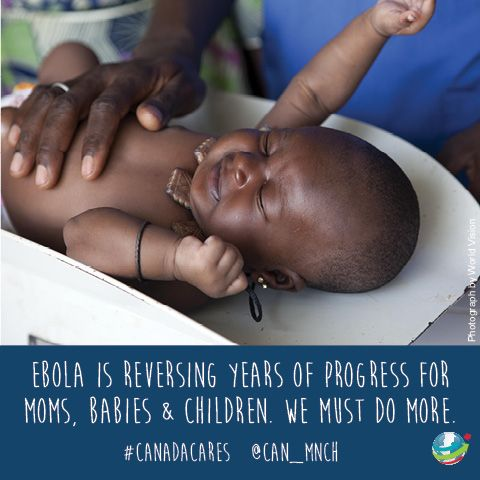 Ebola is reversing years of progress for moms, babies and children. http://www.can-mnch.ca/