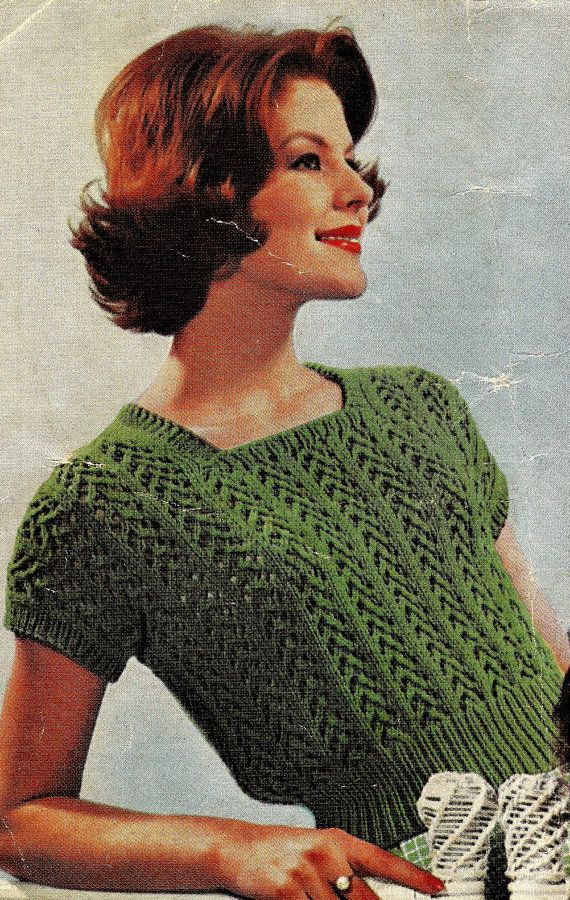 VINTAGE Knitting Pattern pdf/ Summer Jumpers/ by EstherKateVintage, $2.00