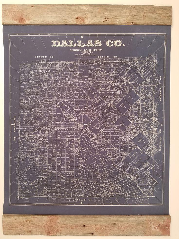 Vintage Maps Dallas County Vintage Cards 28