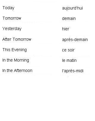 http://wanelo.com/p/3625211/learn-french-online-rocket-french - French Words for Times of Day - Learn French