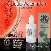 """Juicy watermelon packs a big punch of flavor. With just the right amount of tartness and sweet, it is often described as being similar to a those """"happy farmer"""" hard candies. A favorite for sweet lovers. #50ml #eliquid #ecigarette #watermelon"""