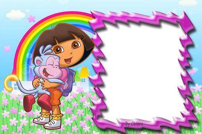 Marcos para fotos digitales de Dora la Exploradora. Bordes para Fotos. ~ Marcos Gratis para Fotografías.