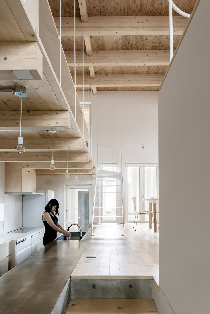 Jun Igarashi Uses Broad Roof To Equip Hokkaido House For Snowy Winters.  Contemporary ArchitectureInterior ArchitectureInterior DesignWood ...