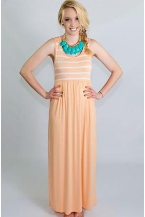 Apricot Love Maxi Dress