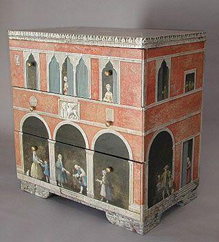 Ca'Toga Art Gallery: Furniture by Carlo Marchiori, Calistoga CA  CHEST OF DRAWERS-VENETIAN BUILDING