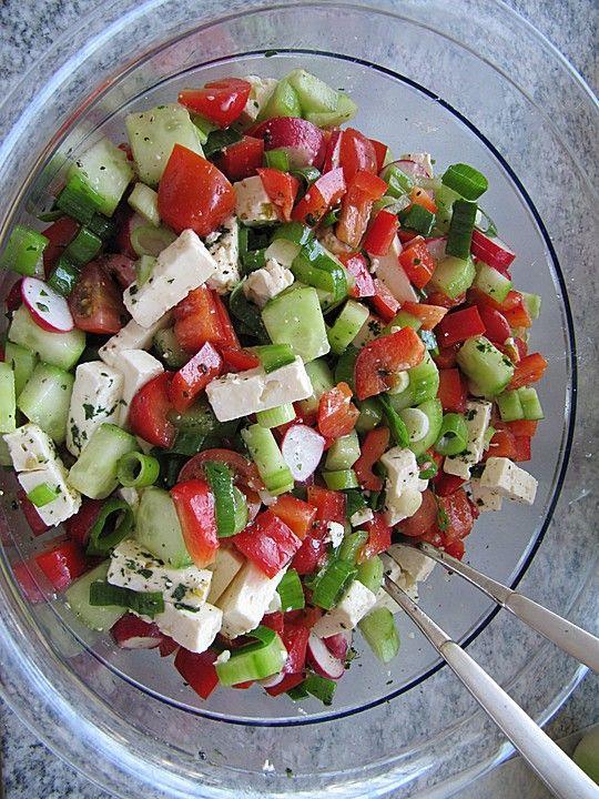Sommerlicher Salat, ein gutes Rezept aus der Kateg…