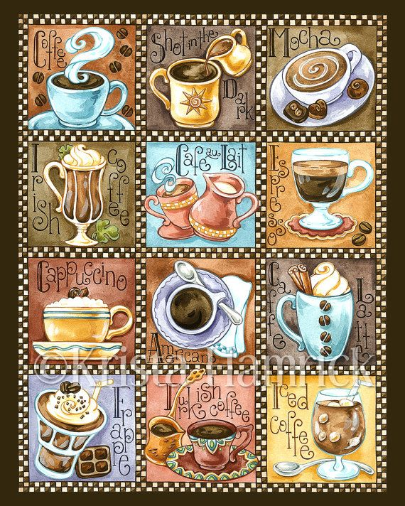 Coffee Break    This is a digital print of my original artwork. It is printed using Epson Ultrachrome K3 inks on 100% cotton rag fine art paper.