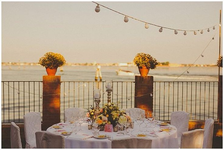 """""""Vibrant gardens, views of the lagoon and a grand entrance by boat: #Venice is an extraordinary location for a destination #wedding!  Photos by…"""""""