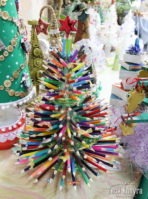 Елка из карандашей. Christmas tree. Ideas