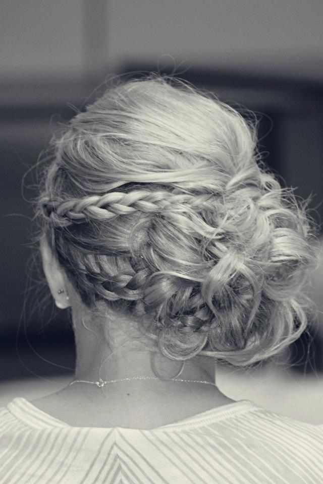 Cute Wedding hair  especially if it is a outside wedding and windy! Great Idea