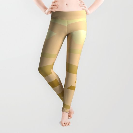 Golden Waves #Society6 #decor #buyart Leggings