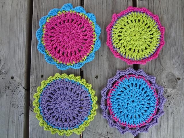 152 best Crochet Coasters images on Pinterest   Crochet ideas, Free ...