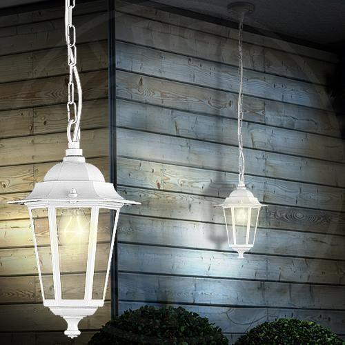 MIA A2342N Laterne Hänge Leuchte AUSSEN Ø210mm/ Klassisch/ Weiß/ Alu/ Pendel Lam | Garten & Terrasse, Beleuchtung, Decken- & Wandleuchten | eBay!
