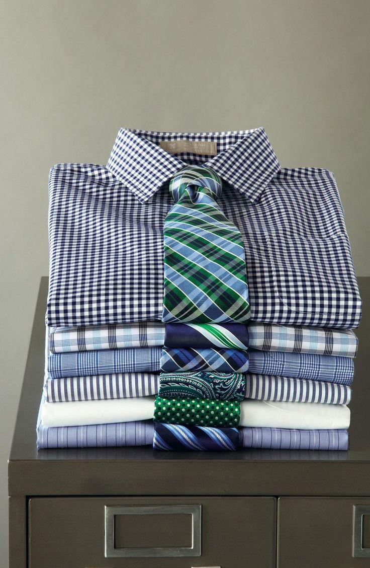 Great work shirt | Smartcare Wrinkle Free Trim Fit Stripe Dress Shirt