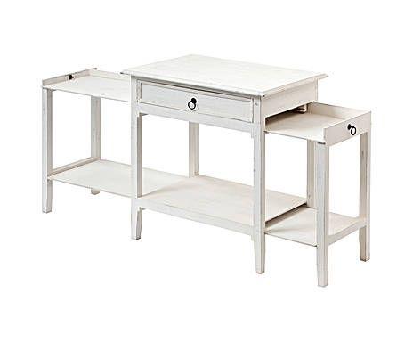 """idea per scrivania x laptop questa """"Consolle estensibile"""" di Dalani (85x85x45 cm): aggiungendo un piano scorrevole estraibile sotto il cassetto può essere usata anche per desktop"""