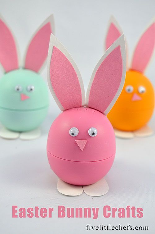 313 best easter spring images on pinterest desserts quick diy easy easter crafts are my favorite this easter bunny uses eos lip balm negle Choice Image