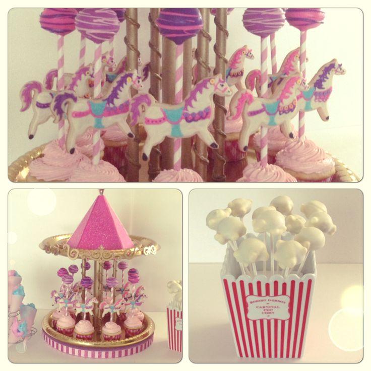 Carousel using cupcakes...cute
