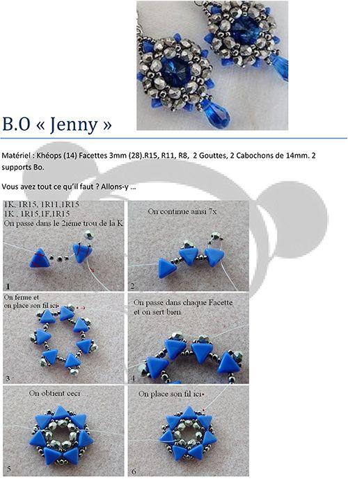 Tutoriel boucles d'oreilles Jenny par Puca® (Gratuit)