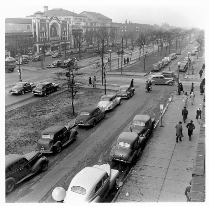 USA. Illinois. Chicago. 1947. Looking north on South ...