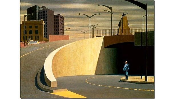 Jeffrey Smart's 'Cahill Expressway' Jeffrey Smart was a leading light in Australian art. Though his landscapes were mostly industrial they were not bleak. He died 21/06/2013 aged 91