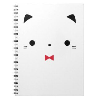minimalist_cute_white_cat_face_with_bow_tie_spiral_notebook-r932ee2a381434b37b85a98c4bc61af32_ambg4_8byvr_324.jpg (324×324)