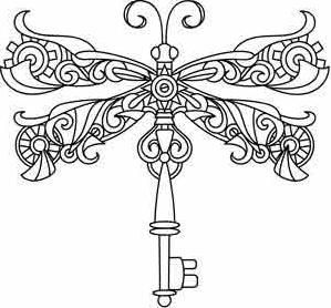 I just found an awesome site for embroidery designs. I love this steampunk dragonfly!