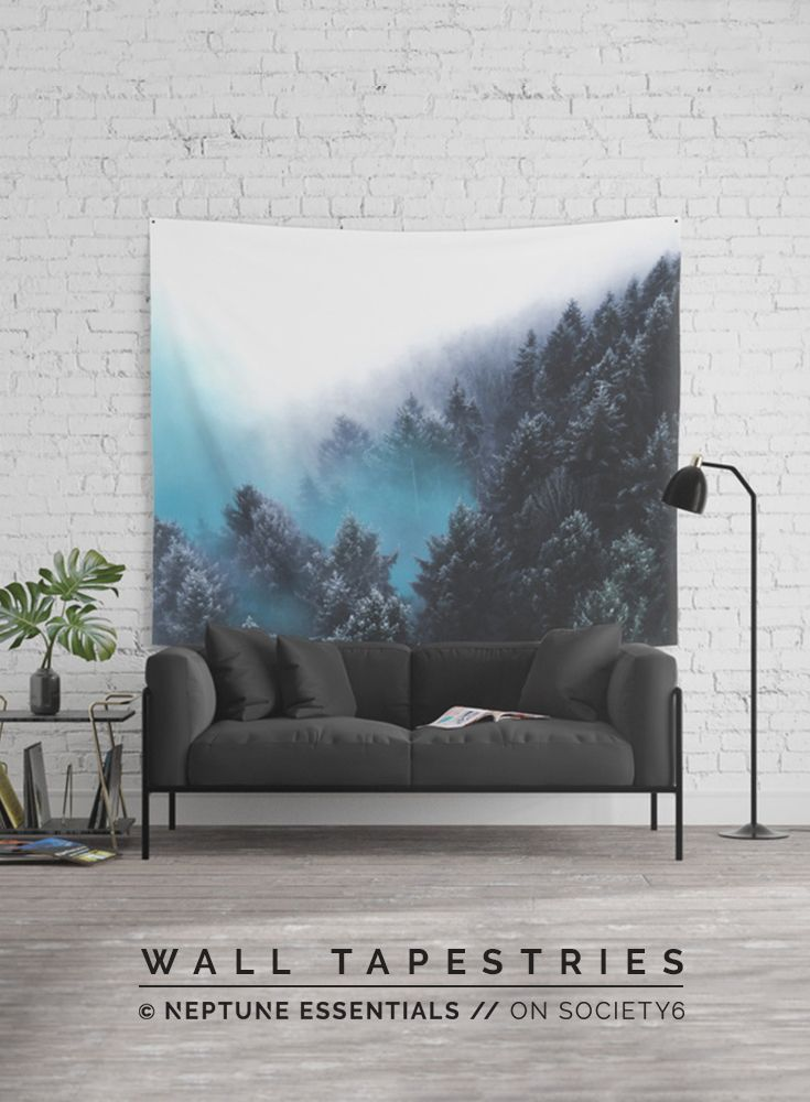 Have Faith In The Woods Wall Tapestry    Available in three distinct sizes, our Wall Tapestries are made of 100% lightweight polyester with hand-sewn finished edges. Featuring vivid colors and crisp lines, these highly unique and versatile tapestries are