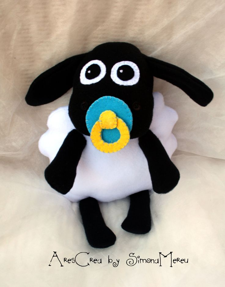 #Timmy cute black lamb from Shaun the #Sheep soft toy #handmade by Ares Crea on Facebook <3