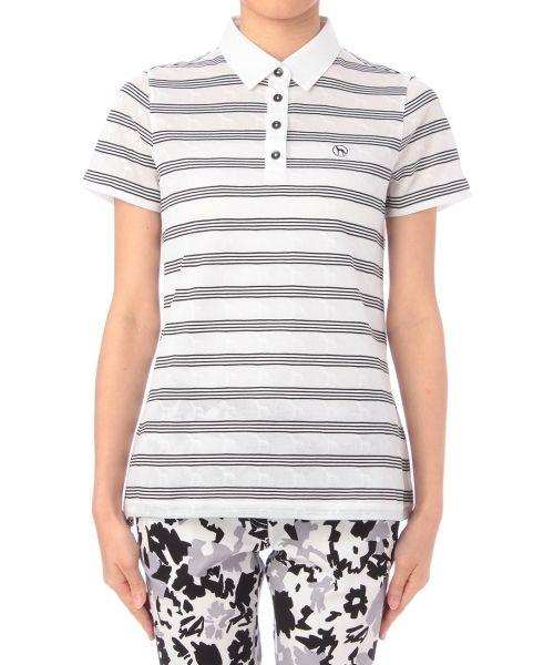 ワッペン付きボーダーポロシャツ-adabat(アダバット) | 全品送料無料 | レディース・メンズ ファッション通販 MAGASEEK