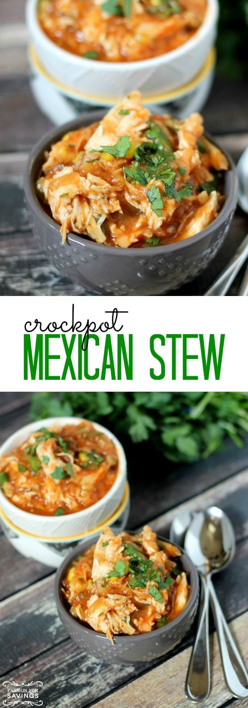Crockpot Mexican Stew Recipe! Easy Dinner Recipe for a quick meal idea!