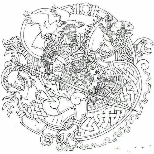 Odin in armor