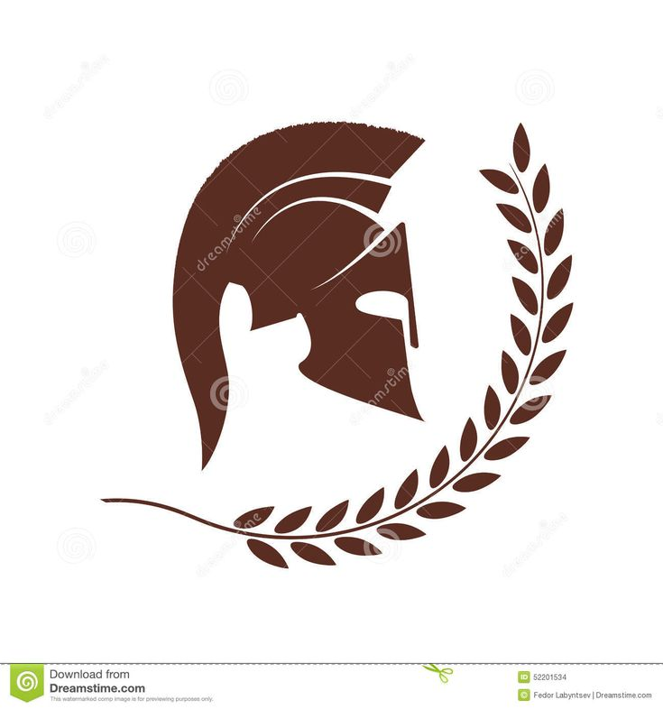 Spartan Helmet In A Laurel Wreath Stock Vector - Image: 52201534
