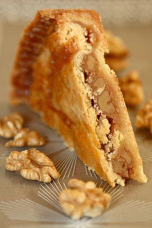 Wonderful walnut caramel pie - A big family favorite and well traveled recipe