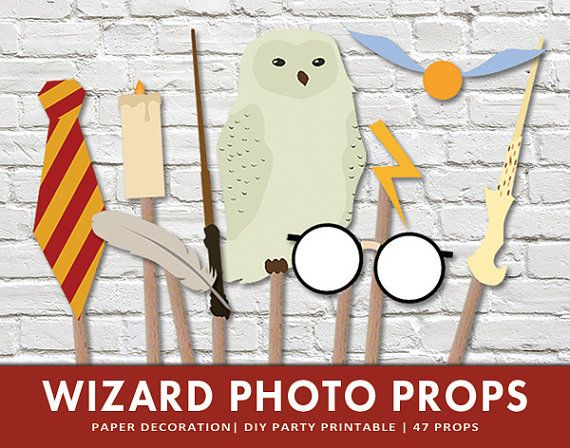 Wizard Photo Booth Props  Stick Props by ThePaperMouseFactory