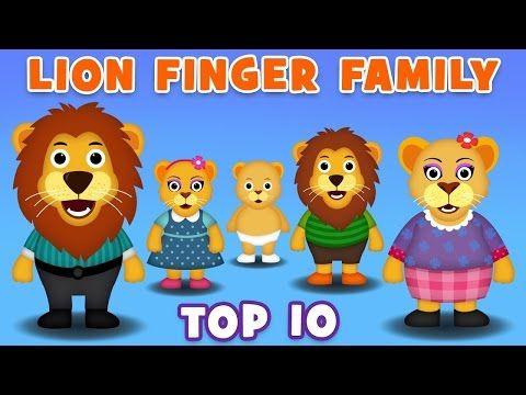 Lion Finger Family Collection | Top 10 Finger Family Song | Nursery Rhymes For Children - Vidinterest