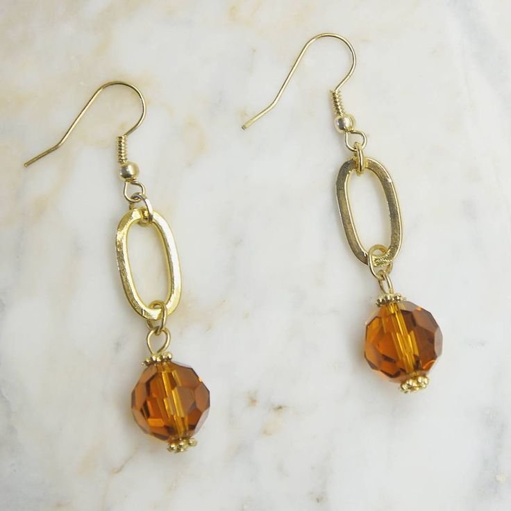 Great companion to Friday night  Amber Bead earrings