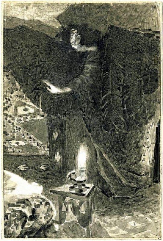 Михаил Александрович Врубель. Демон (рисунок )
