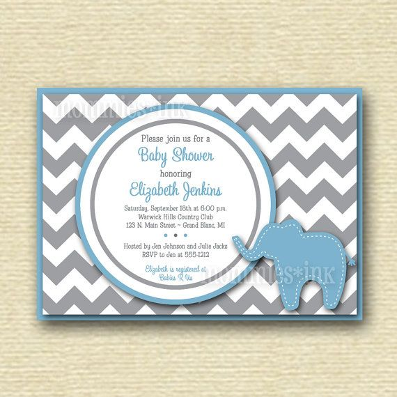 92 best images about baby boy ideas on pinterest | elephant baby, Baby shower invitations