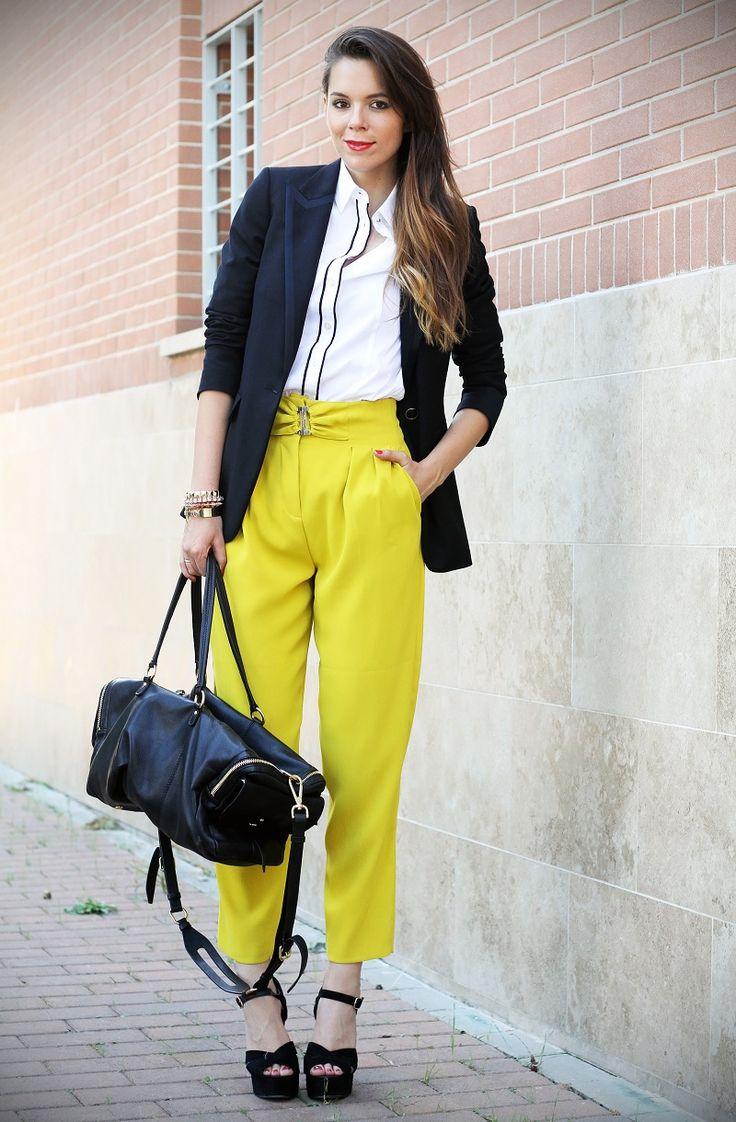 #fashion #fashionista Irene blu bianco giallo Irene's Closet - Fashion blogger outfit e streetstyle: L'ultimo outfit da Fashion Week: bye bye Milan!