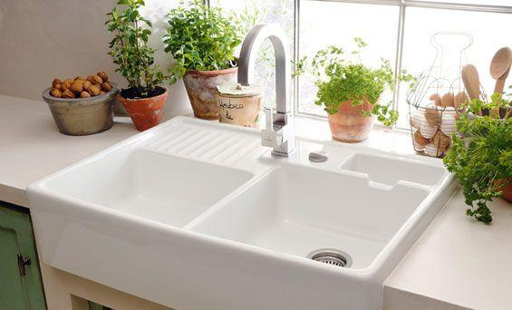 2 bowl ceramic kitchen sink BUTLER SINK Villeroy & Boch