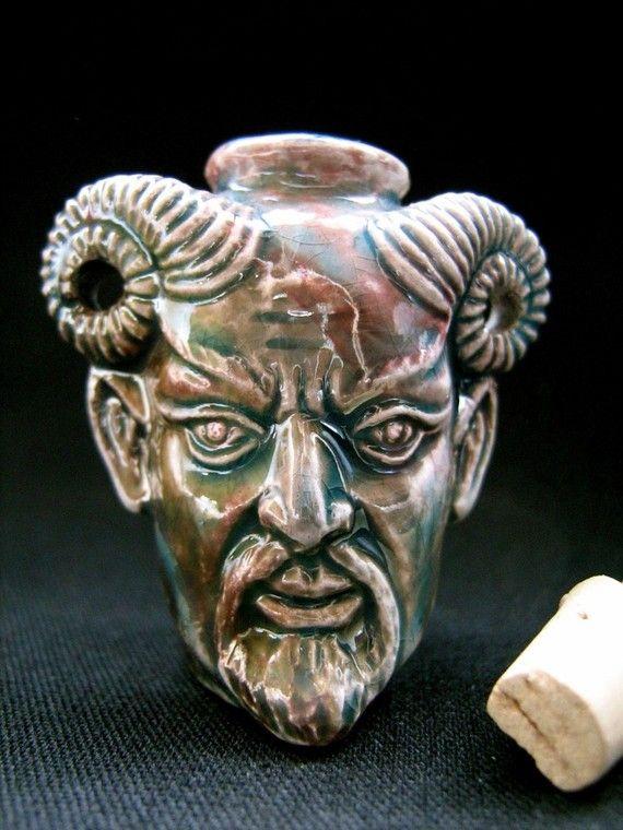 Raku Ceramic Bead Bottle  Pan by TheCraftyBead on Etsy, $6.95