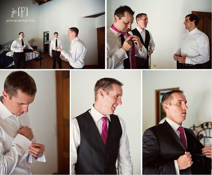 Valle Escondido Wedding Photography Boquete Panama Destination Wedding Photographer Men Getting Ready